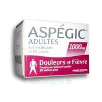 ASPEGIC ADULTES 1000 mg, poudre pour solution buvable en sachet-dose 20 à CHAMPAGNOLE