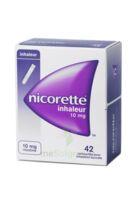 NICORETTE INHALEUR 10 mg Cartouche p inh bucc inhalation buccale B/42 à CHAMPAGNOLE