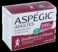 ASPEGIC ADULTES 1000 mg, poudre pour solution buvable en sachet-dose 30 à CHAMPAGNOLE