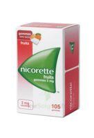 Nicorette 2 Mg Gomme à Mâcher Médicamenteuse Sans Sucre Fruits Plq/105 à CHAMPAGNOLE