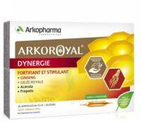 Arkoroyal Dynergie Ginseng Gelée Royale Propolis Solution Buvable 20 Ampoules/10ml à CHAMPAGNOLE