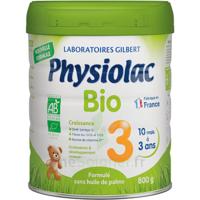 Physiolac Bio Lait 3éme Age 800g à CHAMPAGNOLE