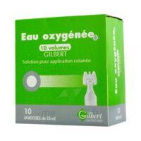 Eau Oxygenee 10 Volumes Gilbert, Solution Pour Application Cutanée En Récipient Unidose à CHAMPAGNOLE