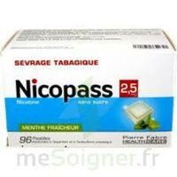 Nicopass 2,5 Mg Pastille Menthe Fraîcheur Sans Sucre Plq/96 à CHAMPAGNOLE