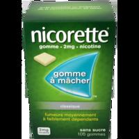 NICORETTE 2 mg Gom à mâcher médic sans sucre menthe fraîche Plq/105gom à CHAMPAGNOLE