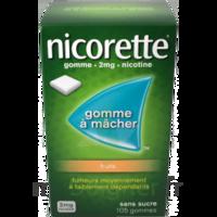 Nicorette 2 mg Gomme à mâcher médicamenteuse sans sucre fruits Plq/30 à CHAMPAGNOLE