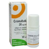 Cromabak 20 Mg/ml, Collyre En Solution à CHAMPAGNOLE