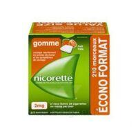 Nicorette 2 Mg Gomme à Mâcher Médicamenteuse Sans Sucre Fruits Plq/210 à CHAMPAGNOLE