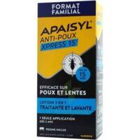 Apaisyl Anti-poux Xpress 15' Lotion Antipoux Et Lente 100ml+peigne à CHAMPAGNOLE