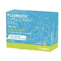 Fluimucil Expectorant Acetylcysteine 600 Mg Glé S Buv Adultes 10sach à CHAMPAGNOLE