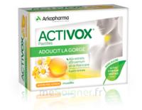 Activox Sans Sucre Pastilles Miel Citron B/24 à CHAMPAGNOLE