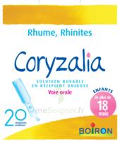 Boiron Coryzalia Solution Buvable Unidose B/20 à CHAMPAGNOLE